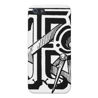 Antique Calligraphy Masonic Symbols Letter F Case For iPhone SE/5/5s