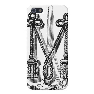 Antique Calligraphy Masonic Symbols Letter M Cover For iPhone SE/5/5s