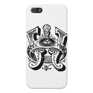 Antique Calligraphy Masonic Symbols Letter W Case For IPhone SE 5 5s