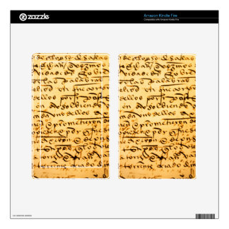 Antique Calligraphy Skin For Kindle Fire