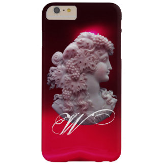ANTIQUE CAMEO, LADY WITH GRAPES AND GRAPEVINES BARELY THERE iPhone 6 PLUS CASE