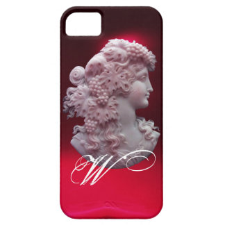 ANTIQUE CAMEO, LADY WITH GRAPES AND GRAPEVINES iPhone SE/5/5s CASE
