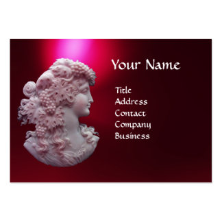 ANTIQUE CAMEO, LADY WITH GRAPES AND GRAPEVINES LARGE BUSINESS CARDS (Pack OF 100)