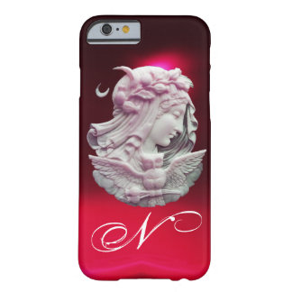 ANTIQUE CAMEO,MOON LADY OF NIGHT WITH OWL MONOGRAM BARELY THERE iPhone 6 CASE