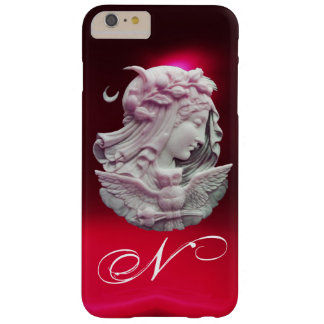 ANTIQUE CAMEO,MOON LADY OF NIGHT WITH OWL MONOGRAM BARELY THERE iPhone 6 PLUS CASE