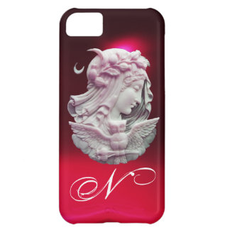 ANTIQUE CAMEO,MOON LADY OF NIGHT WITH OWL MONOGRAM iPhone 5C COVER
