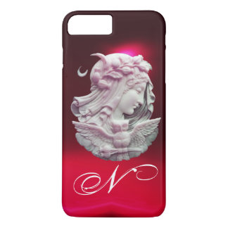 ANTIQUE CAMEO,MOON LADY OF NIGHT WITH OWL MONOGRAM iPhone 7 PLUS CASE