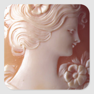 Antique Cameo Square Sticker