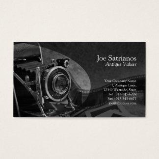 Antique Camera Grey Business Card