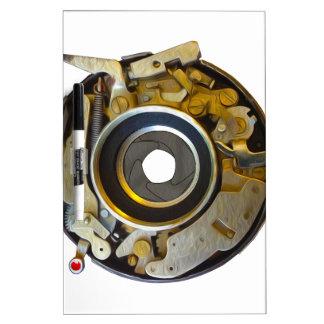 Antique Camera Lens Shutter Dry-Erase Board