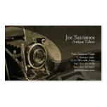 Antique Camera Ochre Business Card