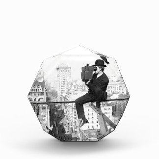 antique camera on a city highrise vintage photo acrylic award