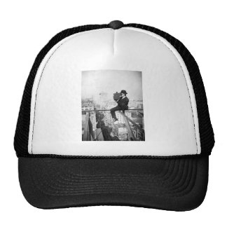 antique camera on a city highrise vintage photo trucker hat