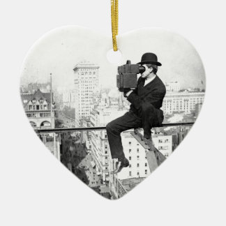 antique camera on a city highrise vintage photo ornaments
