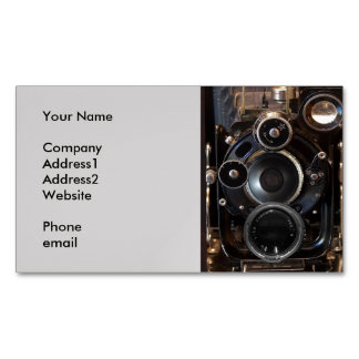 Antique Camera Photography Film Lens Magnetic Business Card