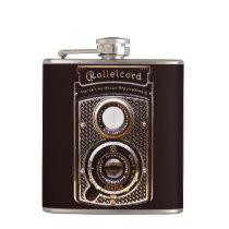 Antique camera rolleicord art deco hip flask