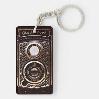 Antique camera rolleicord art deco keychain