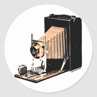 Antique Camera Round Stickers