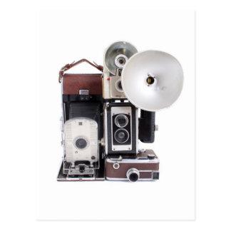 Antique cameras postcard