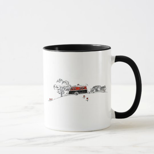 Antique Camper and Car Mug