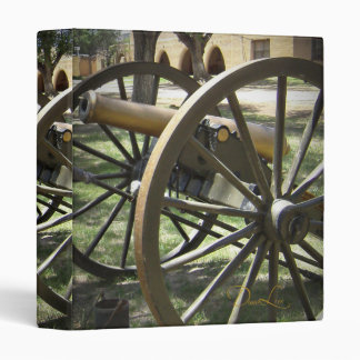 Antique Canon at Fort Stanton New Mexico 3 Ring Binder