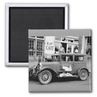Antique Car, 1930s 2 Inch Square Magnet