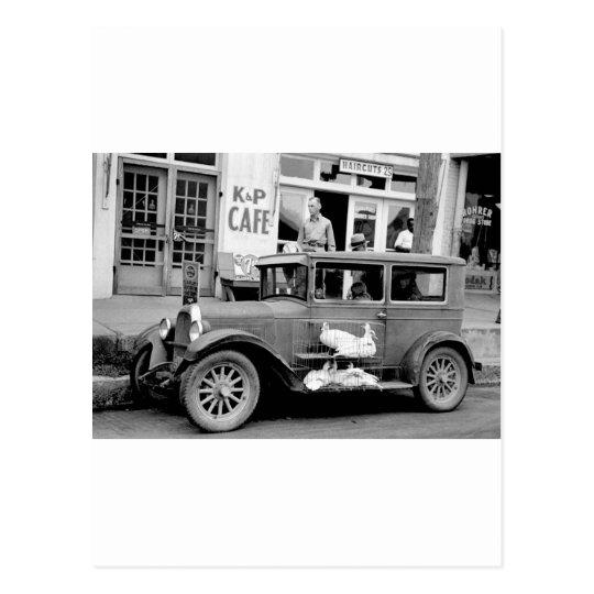 Antique Car, 1930s Postcard
