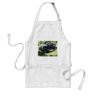Antique car adult apron