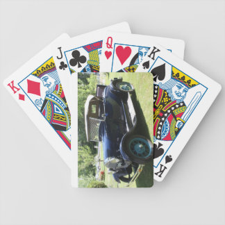 Antique car bicycle playing cards