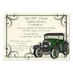 Antique Car Birthday 5x7 Paper Invitation Card