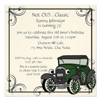 Antique Car Birthday Custom Invites