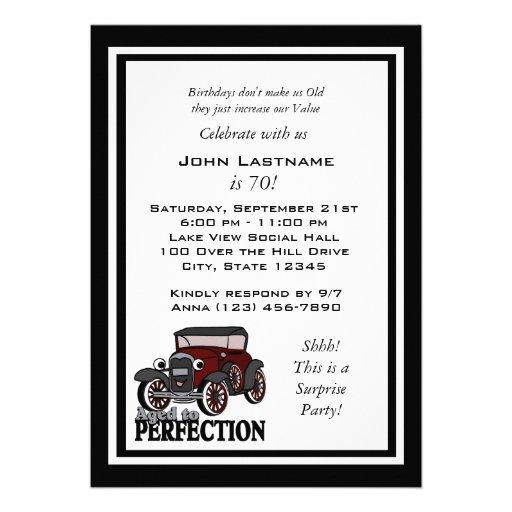 Antique Car Birthday Invite