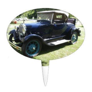 Antique car cake topper