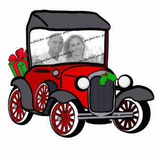 Antique Car Christmas Photo Statuette