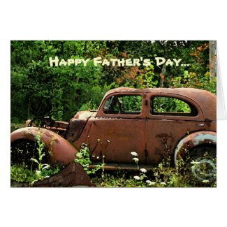 Antique Car Fathers Day Card