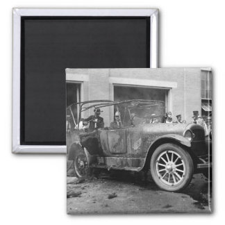Antique Car Fire, 1921 Magnet