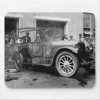 Antique Car Fire, 1921 Mouse Pad