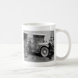 Antique Car Fire 1921 Coffee Mugs