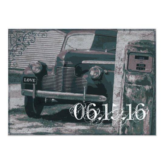 Antique Car Gas Pump Vintage Wedding Invitations Zazzlecom - Classic car invitations