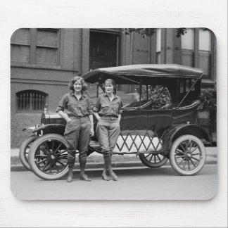 Antique Car Girls, 1920s Mouse Pad