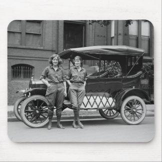 Antique Car Girls, 1920s Mouse Pad