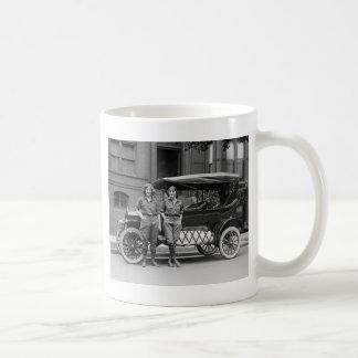 Antique Car Girls 1920s Mug