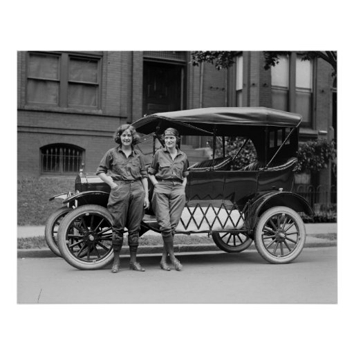 Antique Car Girls, 1920s Posters