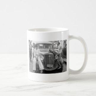 Antique Car, Great Depression Family, 1930s Coffee Mug
