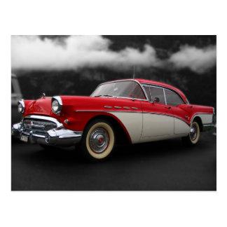 Antique Car in Clouds Postcard