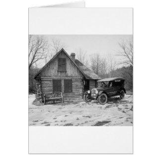Antique Car in Rock Creek Park, 1920s Card