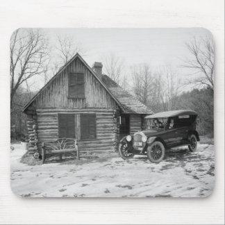 Antique Car in Rock Creek Park, 1920s Mouse Pad