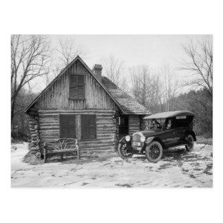 Antique Car in Rock Creek Park, 1920s Postcard