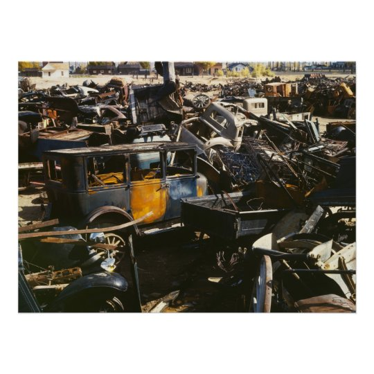 Antique Car Junkyard, 1942 Poster
