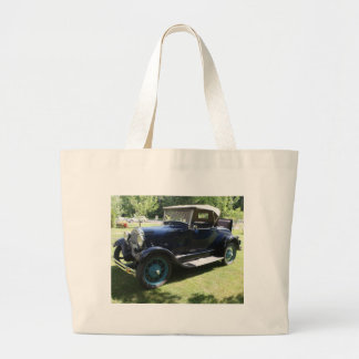 Antique car large tote bag